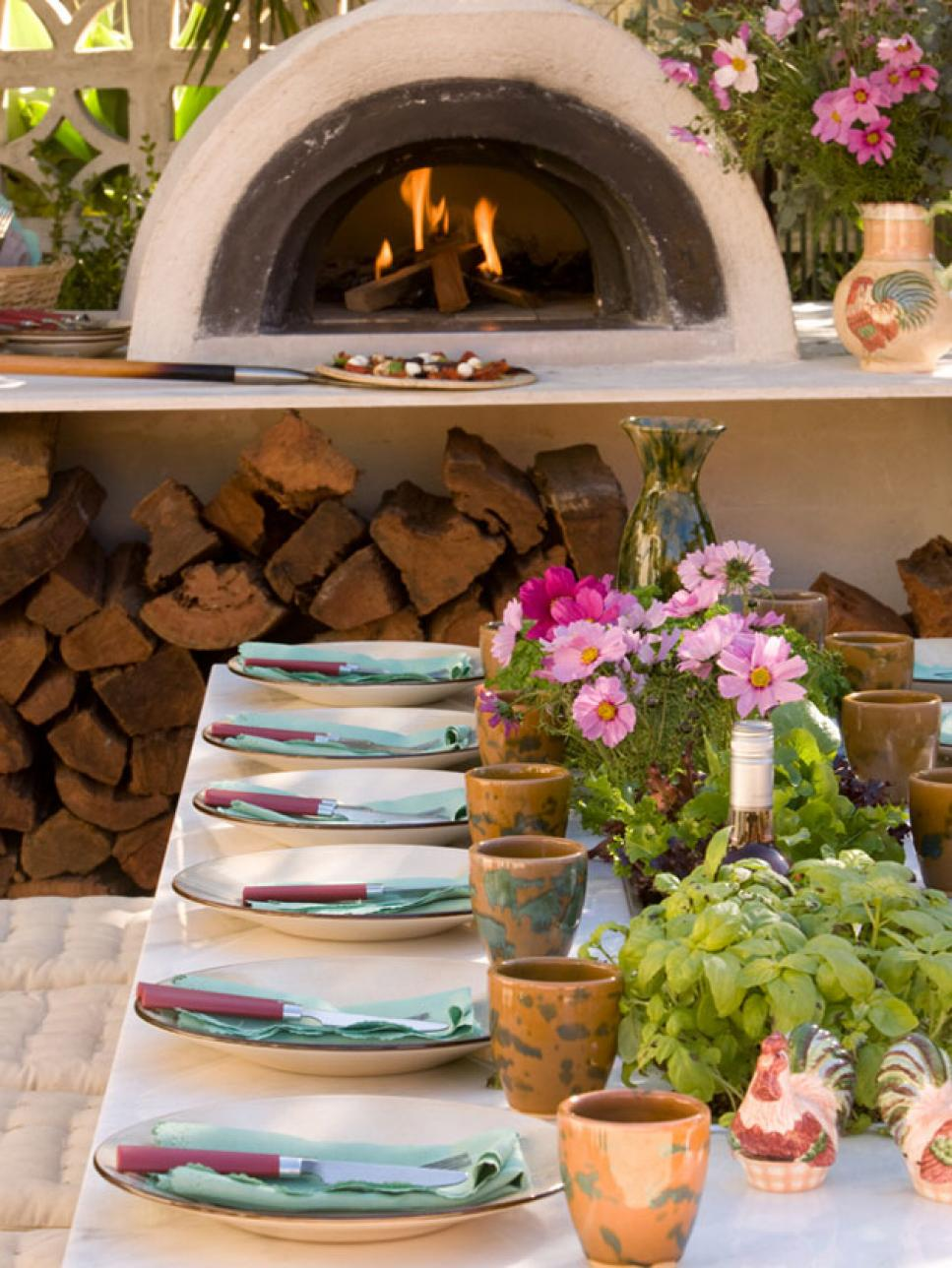 Pizza Oven Outdoor Kitchen Outdoor Kitchens Hgtv