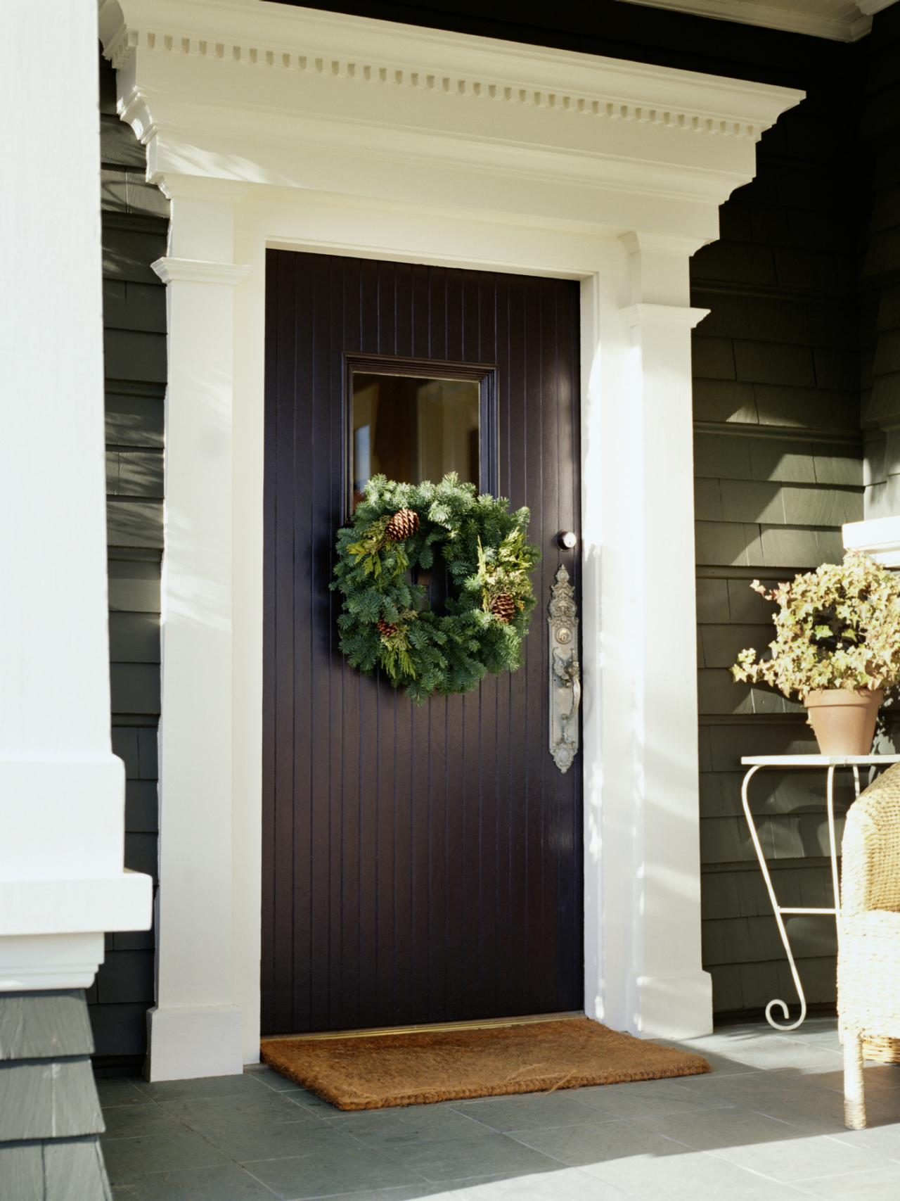 Christmas door decorations interior design styles and Front entrance ideas interior