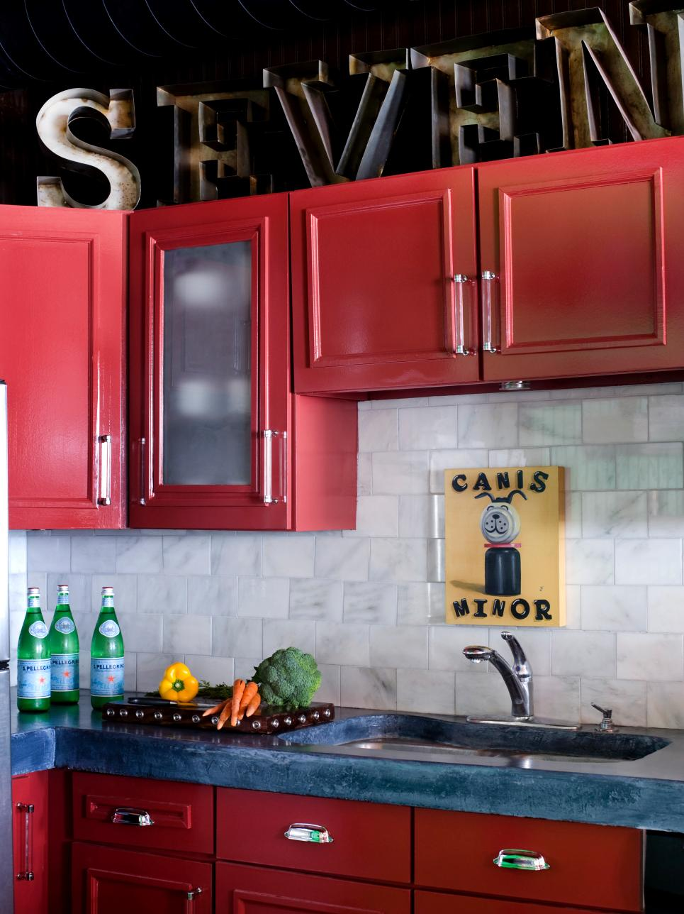 Colored Kitchen Cabinets 10 ideas for decorating above kitchen cabinets | hgtv