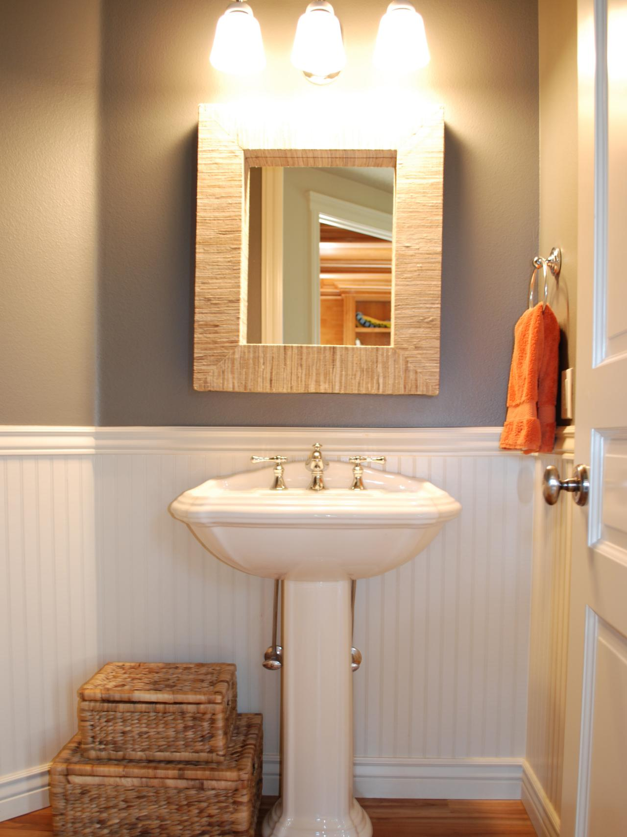 12 clever bathroom storage ideas bathroom ideas for Bathroom wainscoting ideas