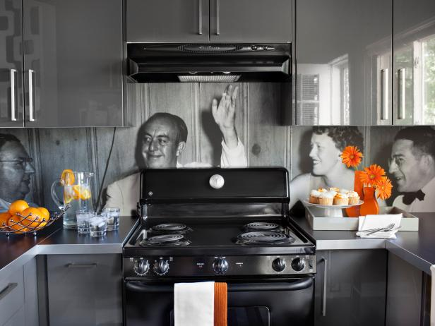 Kitchen Backsplash Vinyl create a vinyl photo backsplash | hgtv