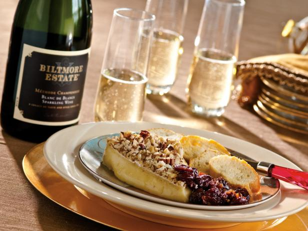 Nut Crusted Brie With Cherry Chutney