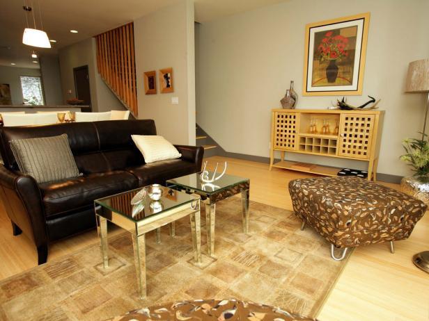 Contemporary Open-Plan Living Room