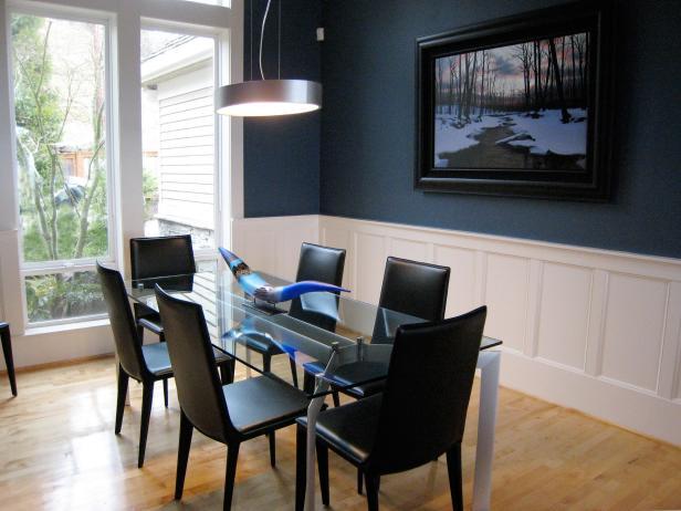 Stylish Blue Dining Area