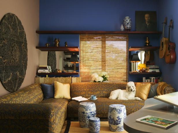 Blue Asian Style Living Room