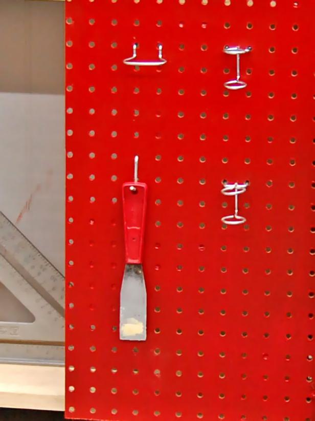 Red Kitchen Pegboard