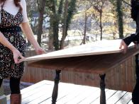 Make a Brunch Table from Household Furniture