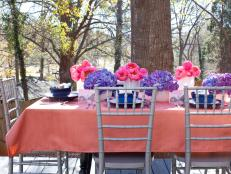 Colorful Outdoor Table Setting for Baby or Bridal Shower