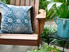 Wooden Chair with Accent Pillow
