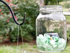 Create Glass Lanterns for the Backyard