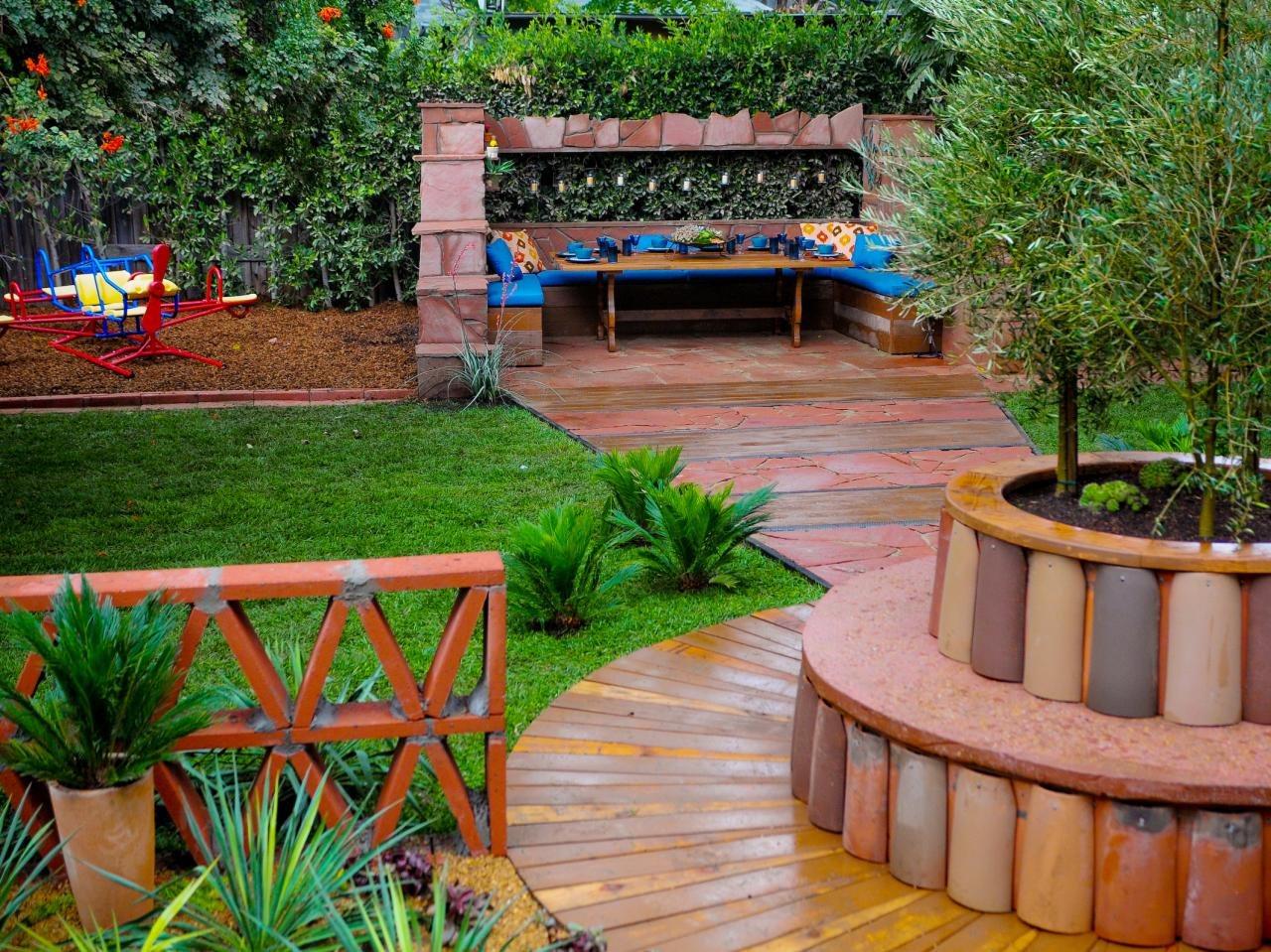 Patio ideas outdoor spaces patio ideas decks for Outside garden design