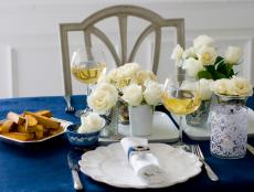 Royal Blue and White Dinner Table