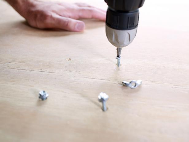 Drill Screws Into Plywood Table