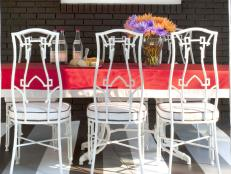 Outdoor Dining Table With Party Decor