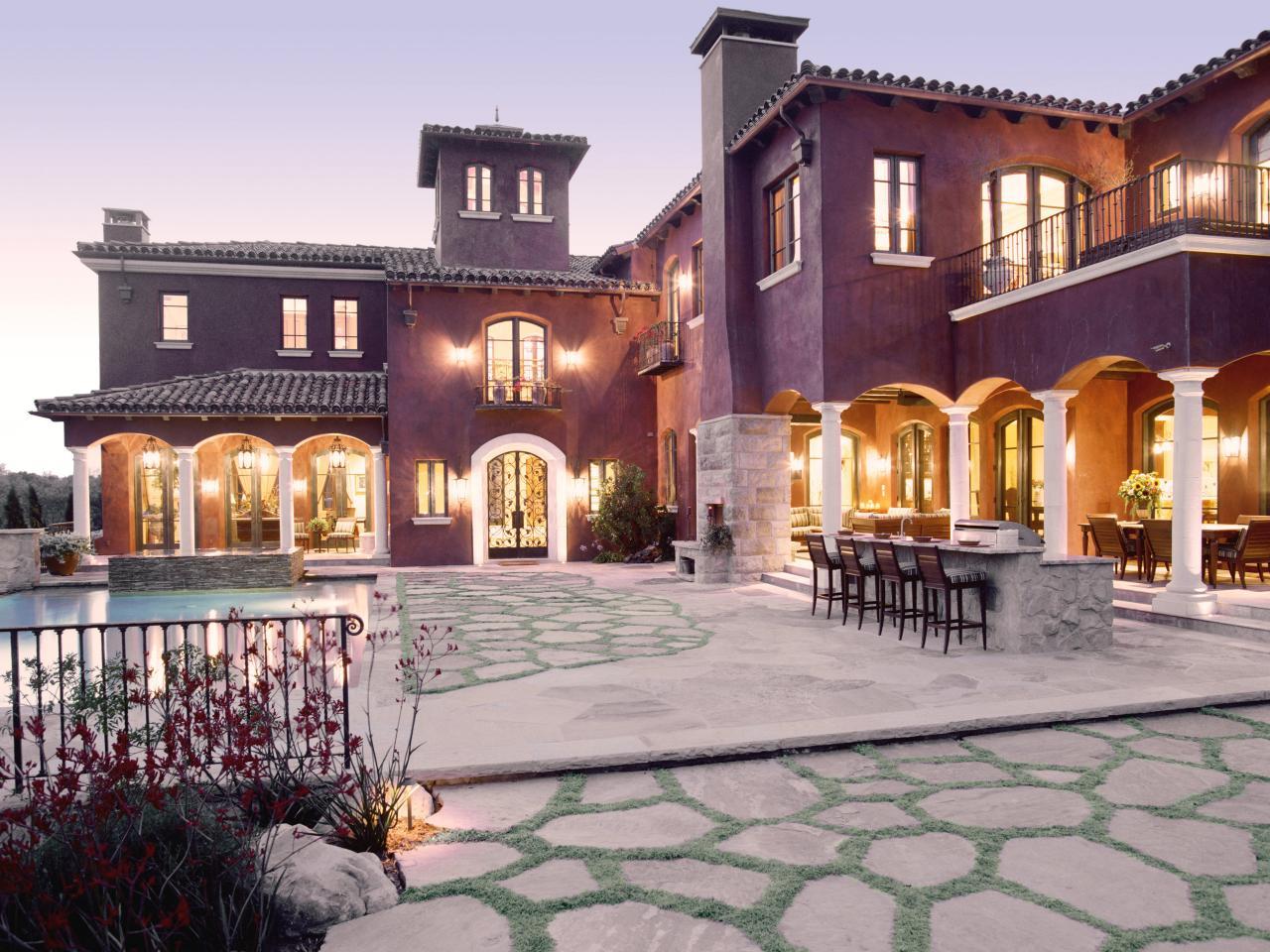 Photos hgtv for Mediterranean style home exteriors