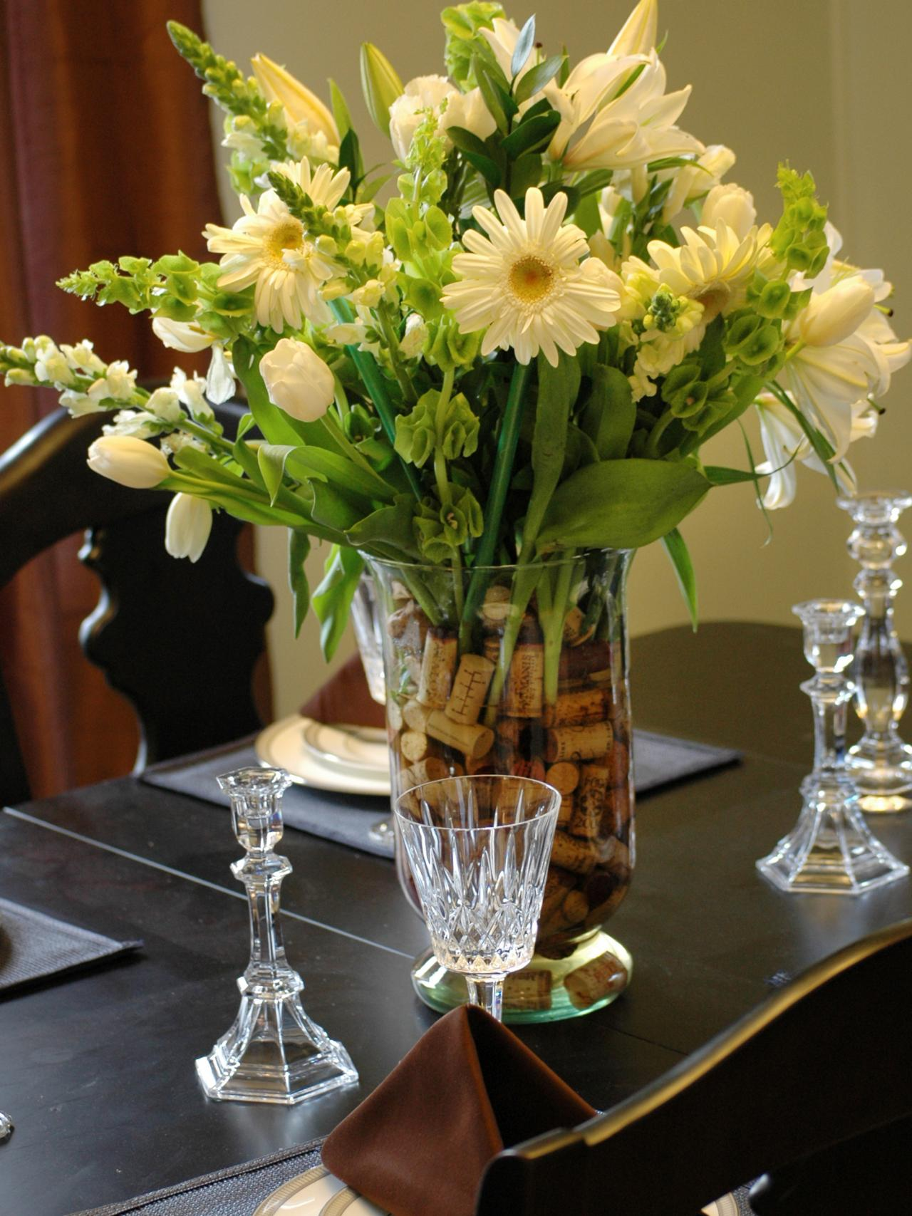 Dining Room Table Centerpiece Arrangements Photos HGTV