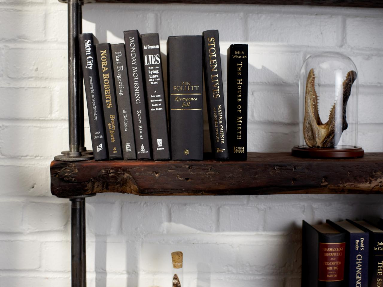 Industrial Rustic Bookshelf | HGTV
