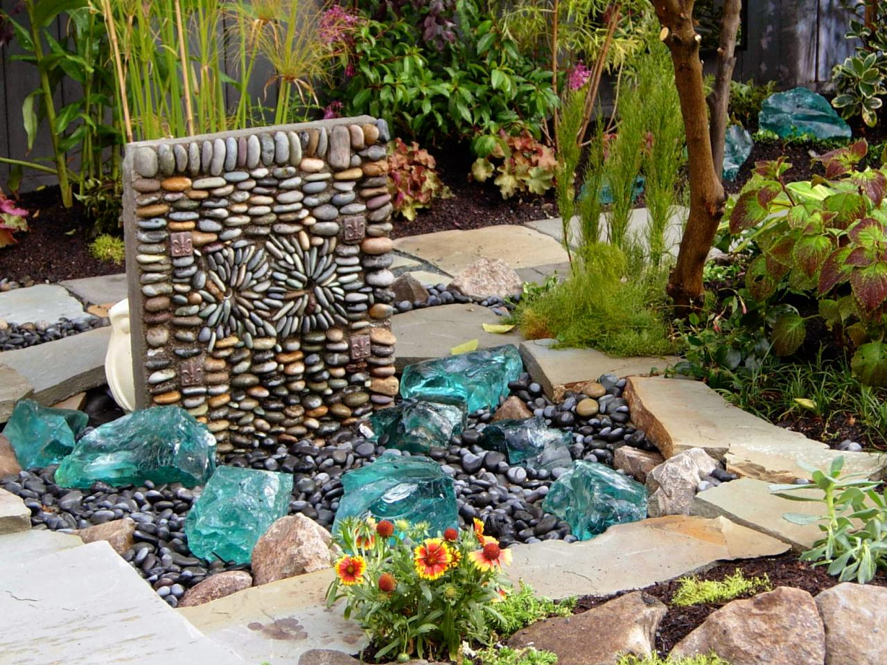 Photos hgtv for Garden fountains and water features