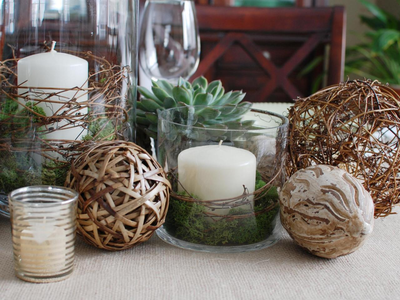 Party centerpieces entertaining ideas party themes for Natural decorating