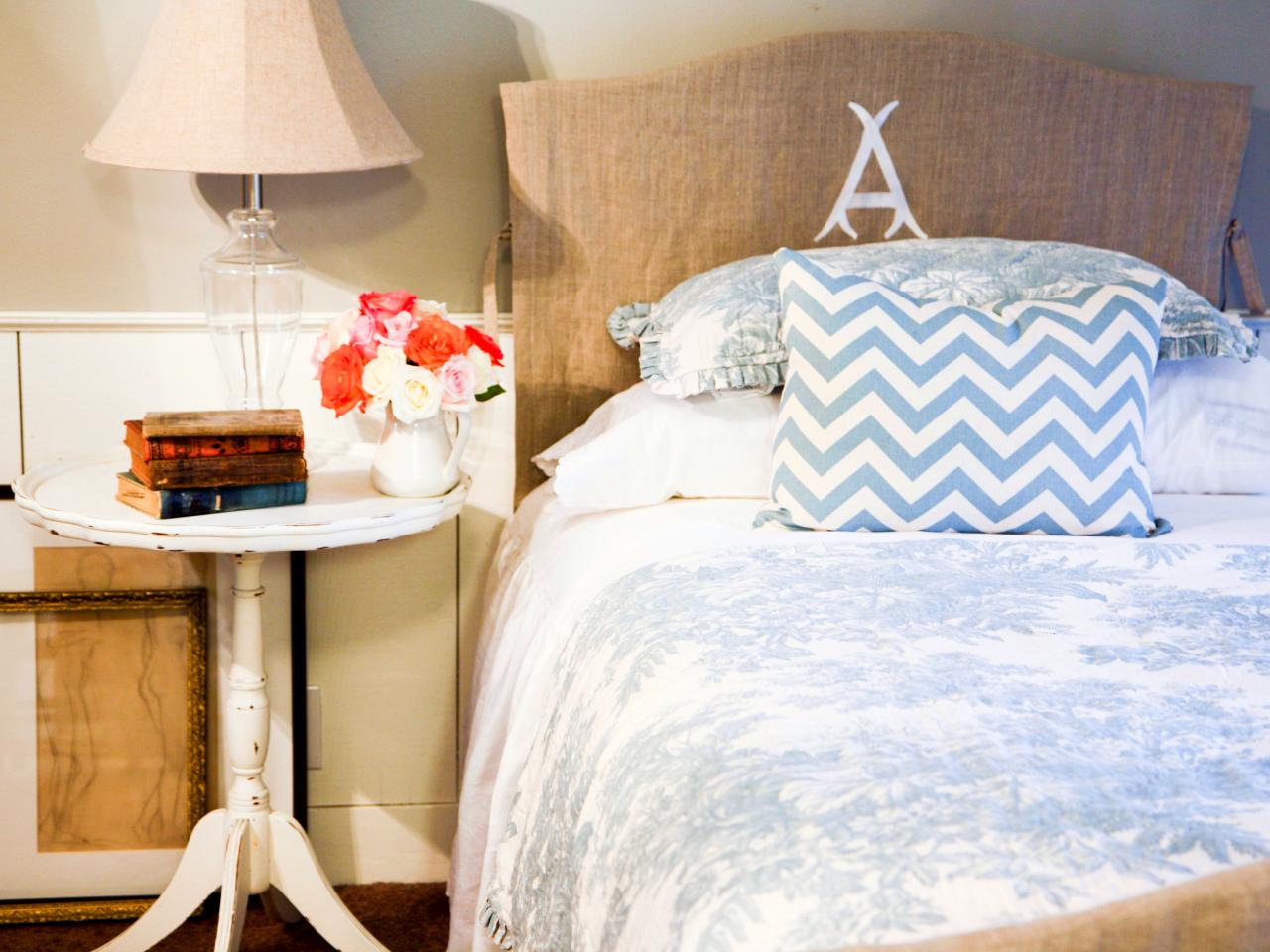 make an easy headboard slipcover hgtv