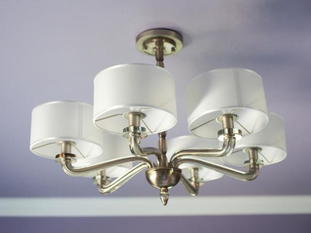 Brass Lampshade Chandelier