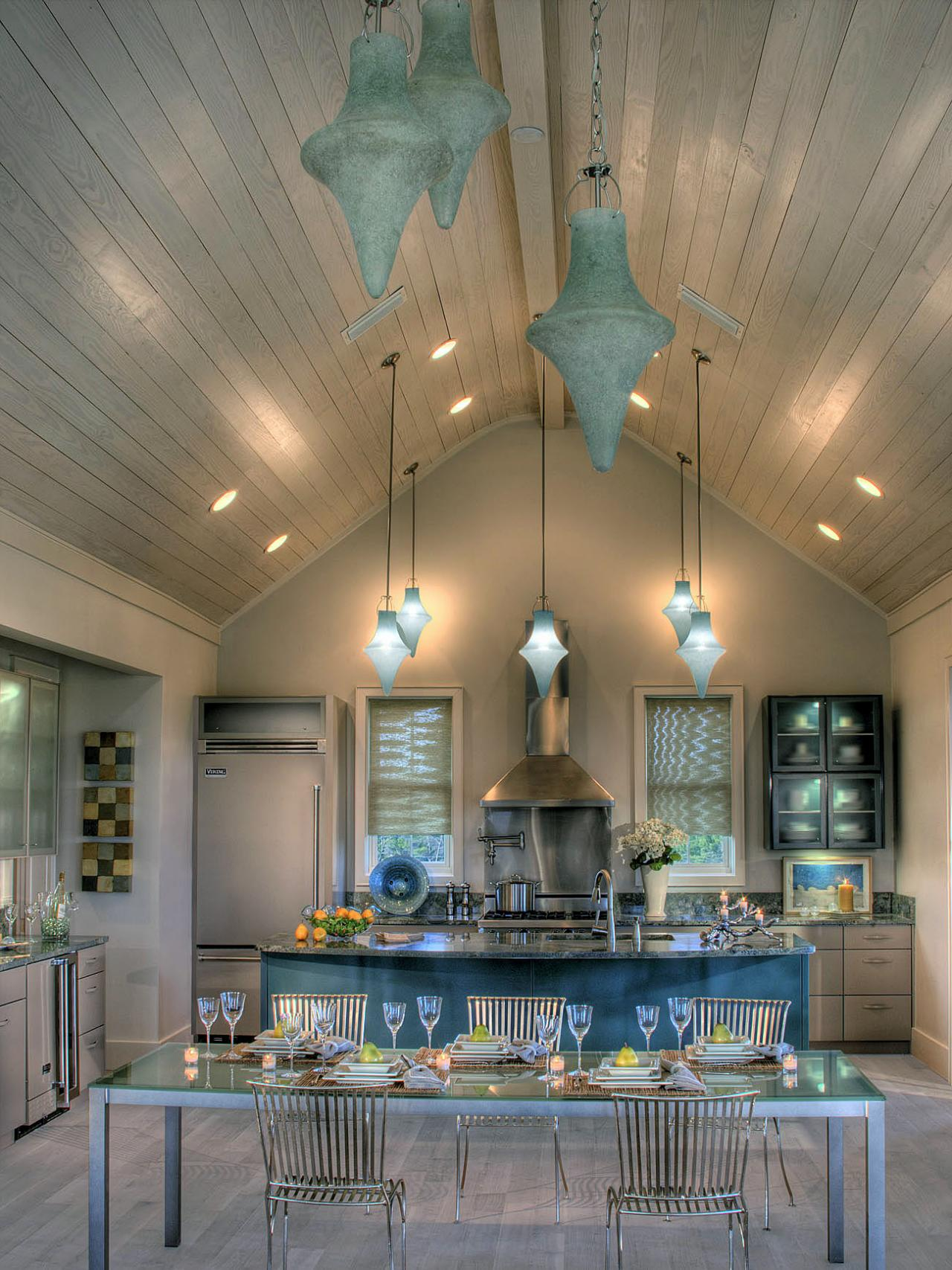 Photos hgtv for Pendant lighting for high ceilings