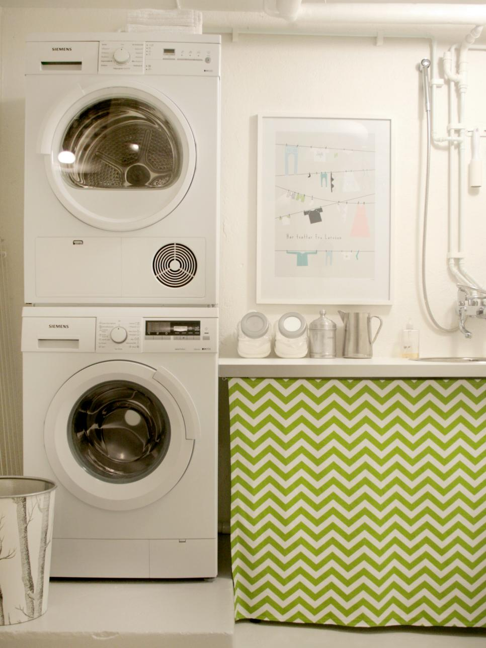 Chic Laundry Room Decorating Ideas HGTV - Bathroom laundry room design ideas