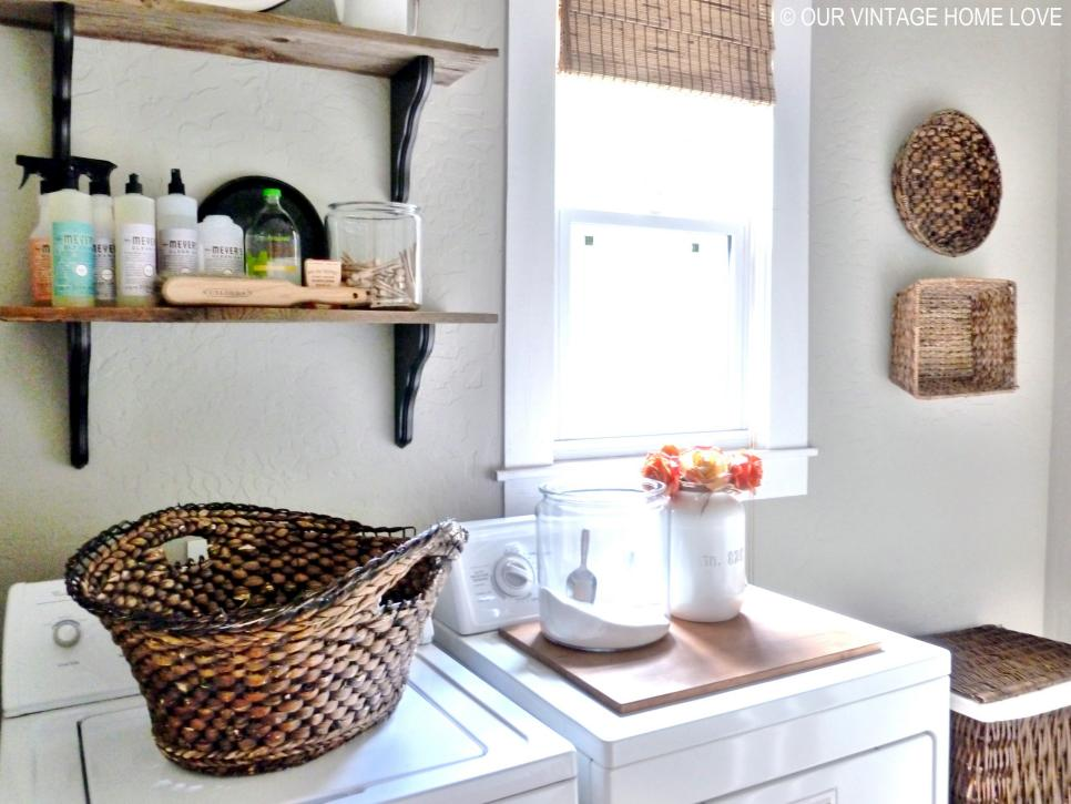 Laundry Wall Decor 10 chic laundry room decorating ideas | hgtv