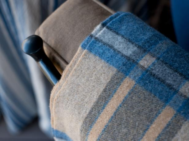 Blue flannel blanket