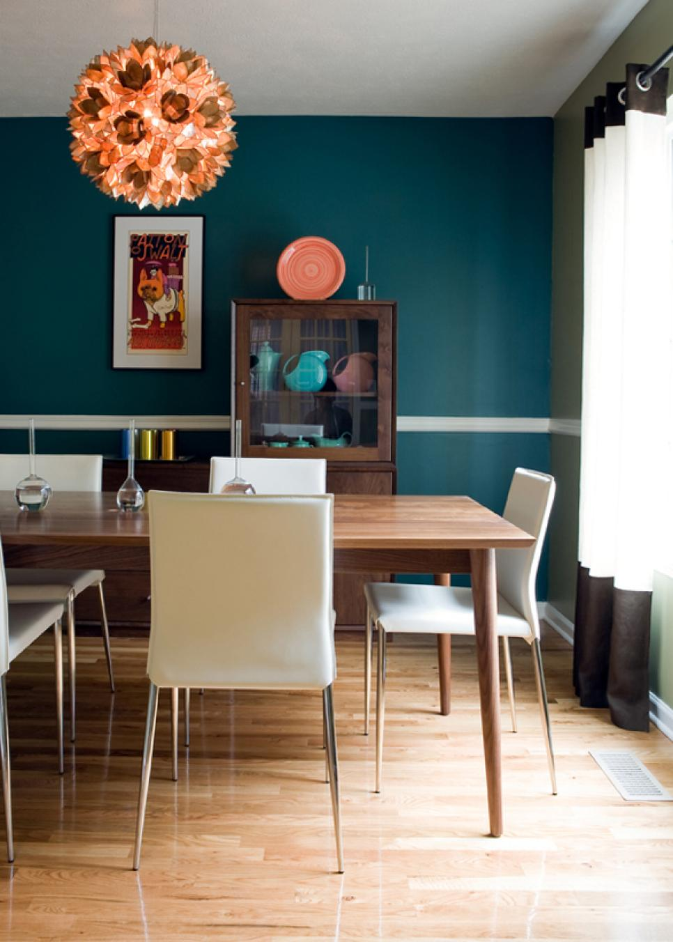 Modern Dining Room Color Schemes add midcentury modern style to your home | hgtv