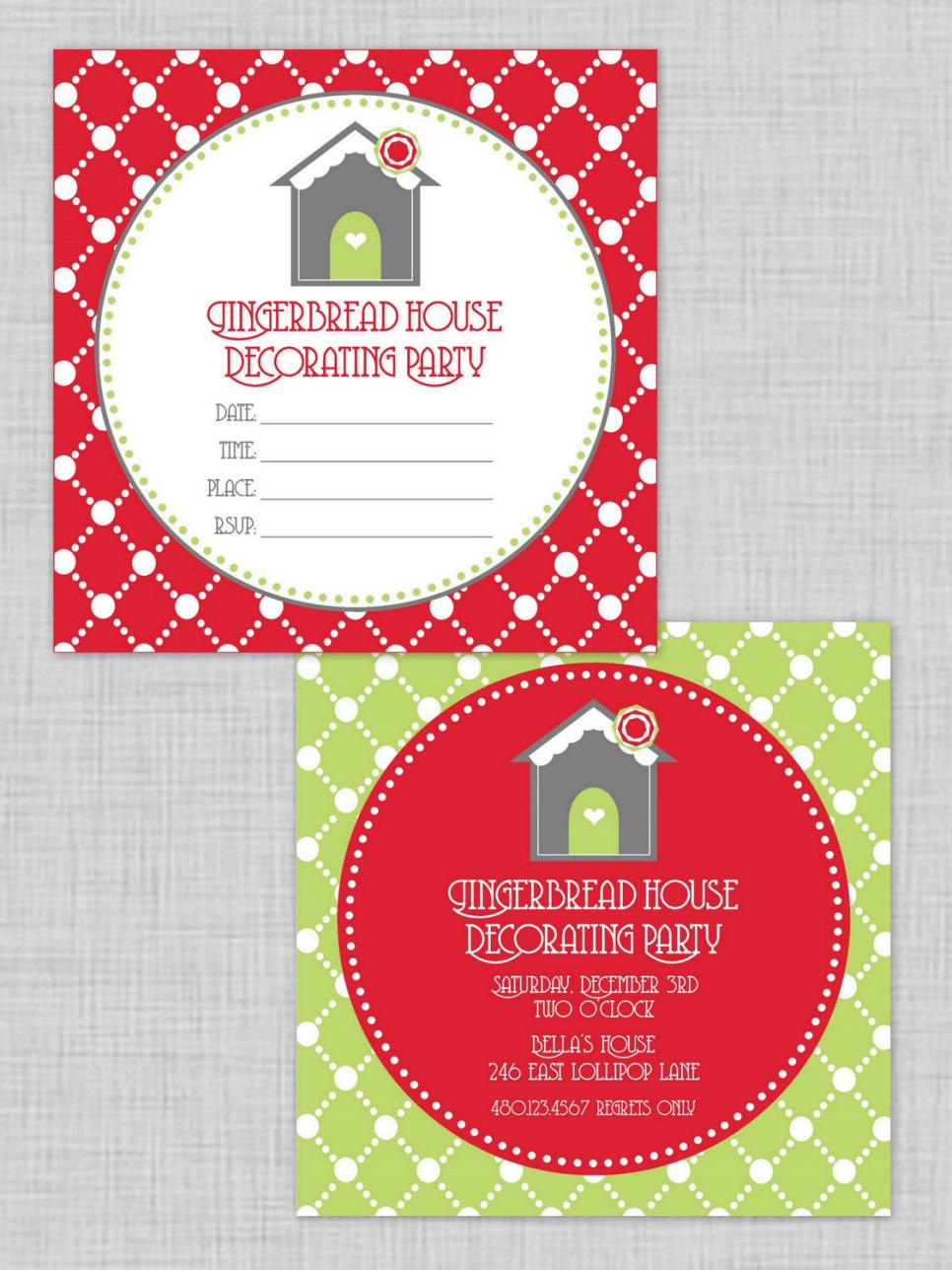 Gingerbread House Free Printables - A sweet goodbye