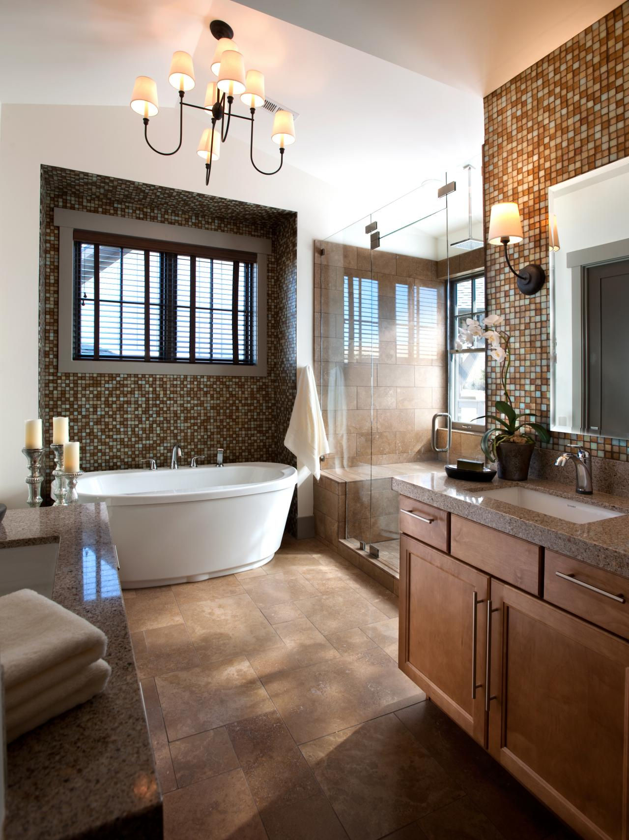A study in neutrals the master bathroom showcases turkish for Pics of master bathrooms