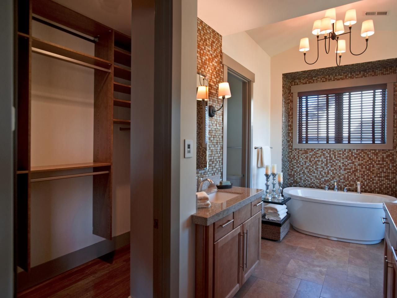 Photo page hgtv for Master bathroom designs with walk in closets