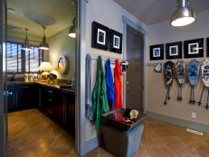 Mudroom With Nearby Laundry Room