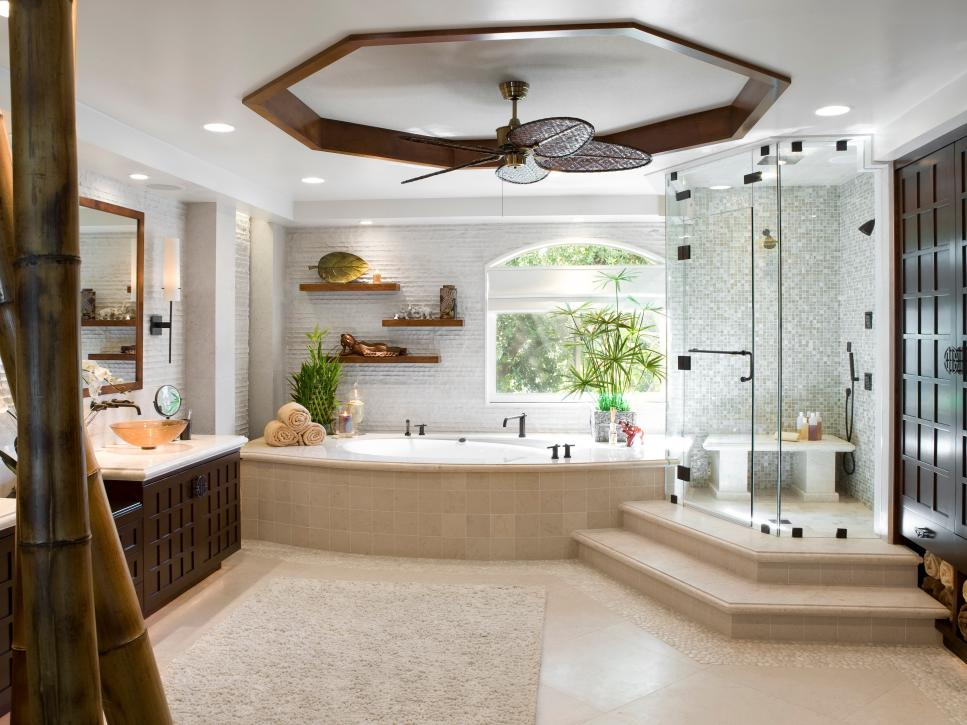 Luxurious showers hgtv for Luxury master bath designs
