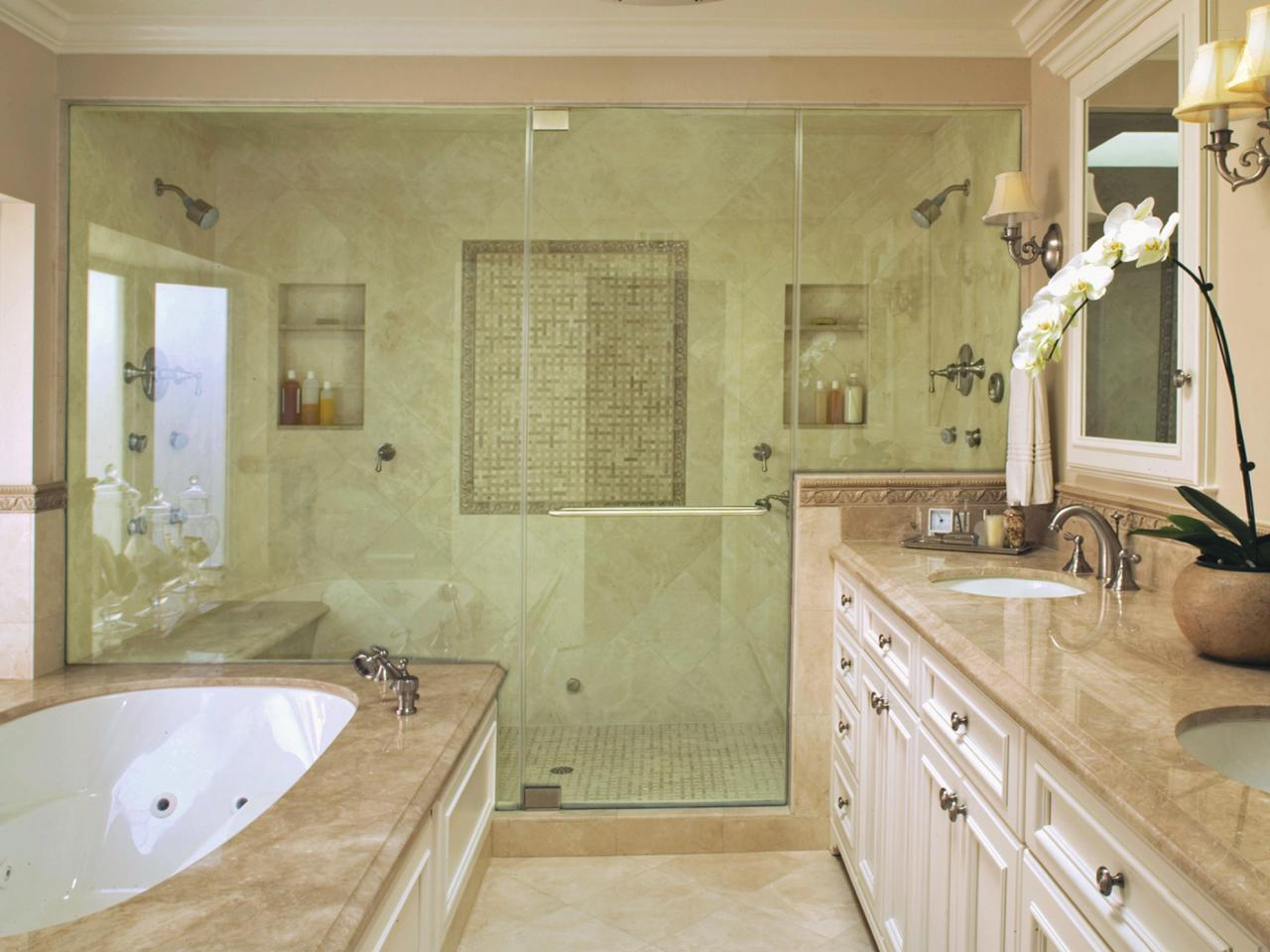 Luxurious showers bathroom ideas designs hgtv for Bathroom ideas with tub