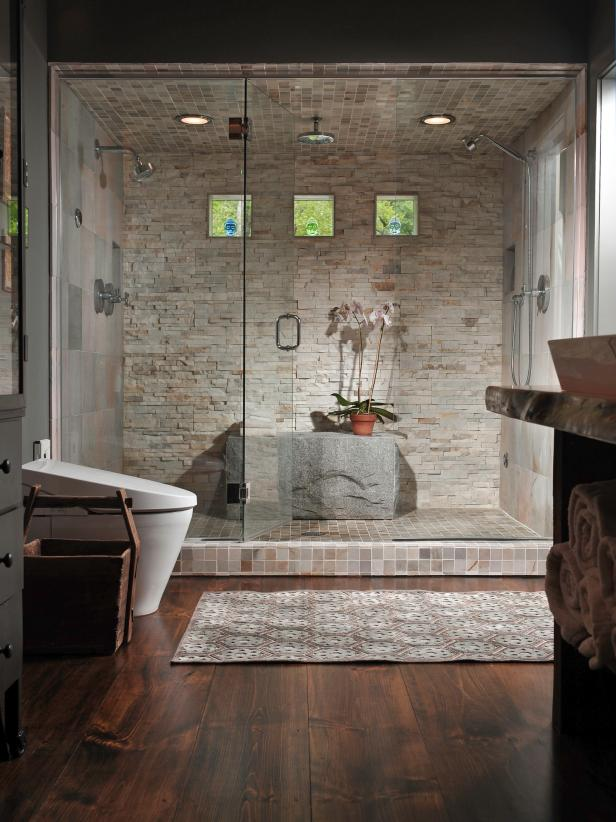 big walk in showers.  Luxurious Showers HGTV