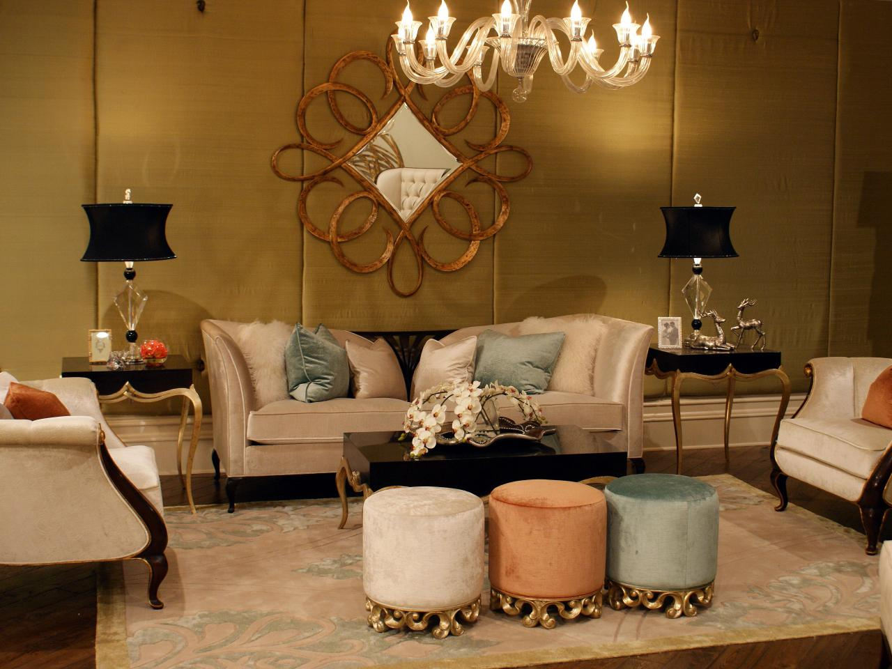 Cream And Gold Living Room Ideas - Studio