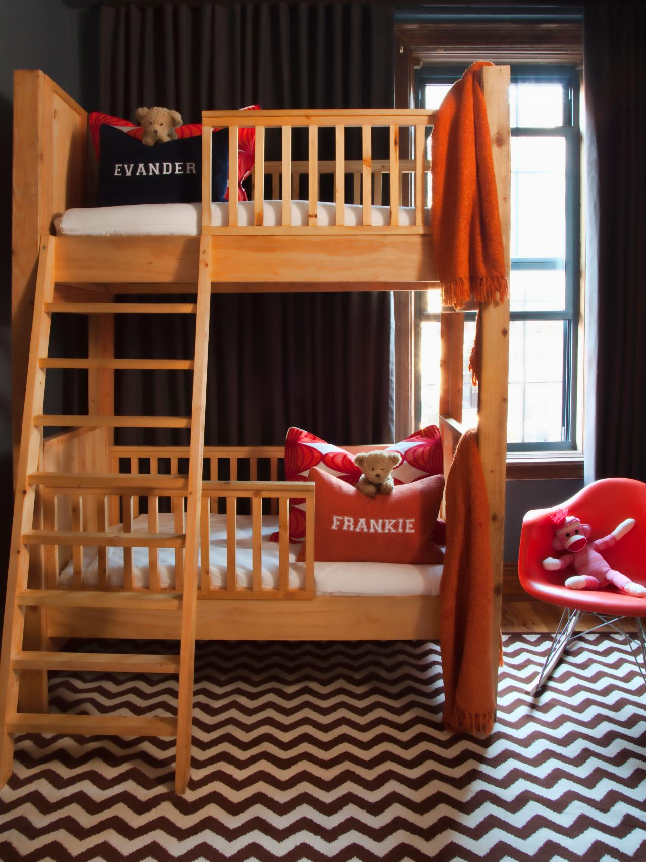 Small, Shared Kids' Room Storage And Decorating