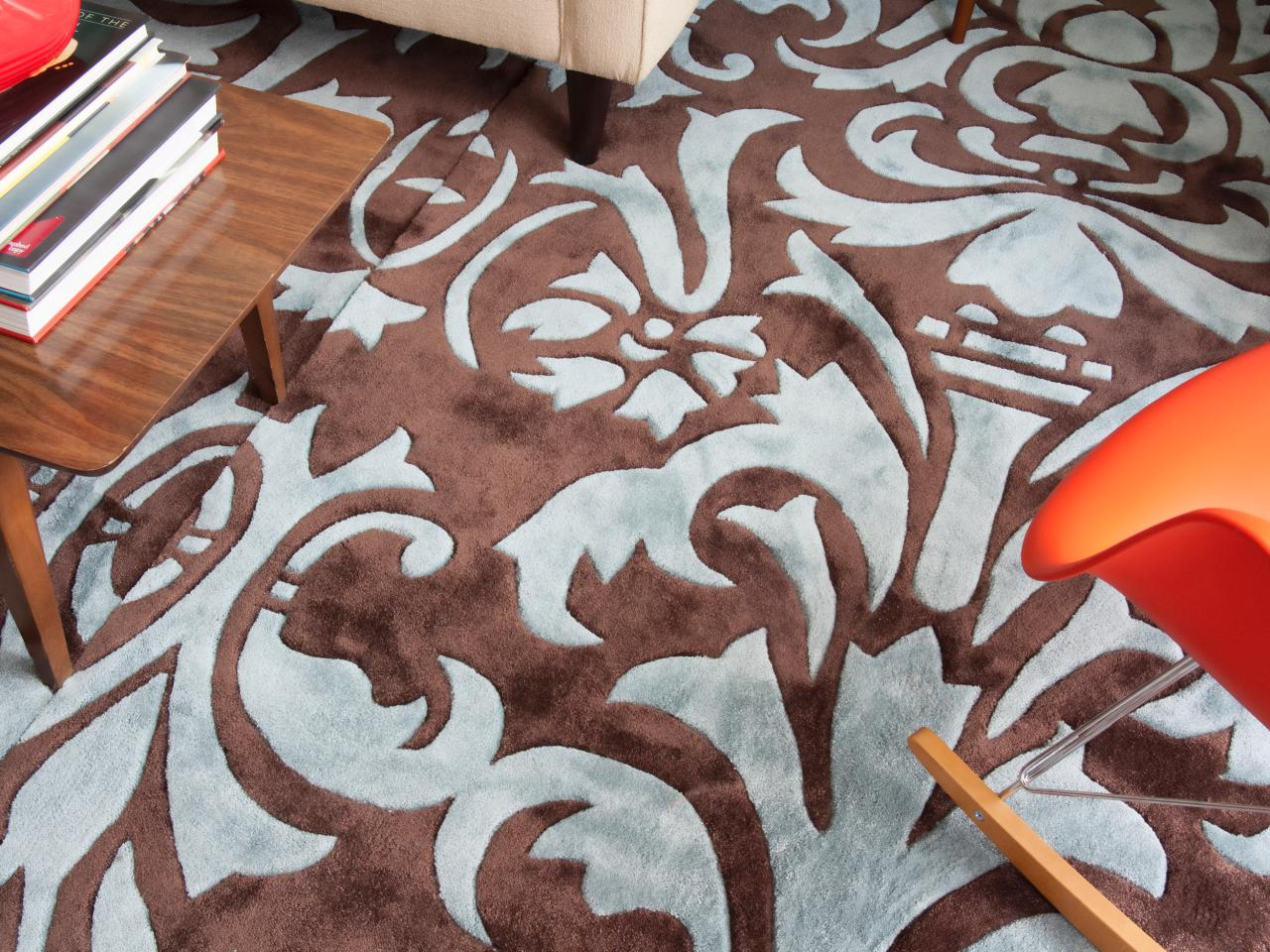 How To Make One Large Custom Area Rug From Several Small Ones HGTV - New patterned rugs designs