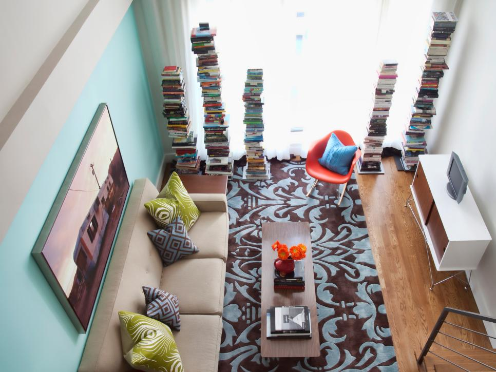 colorful clever small spaces from hgtv hgtv - Pictures Of Small Living Rooms Designs