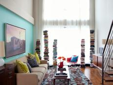 Loft With Stacking Bookshelves
