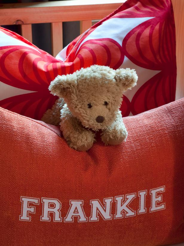 Child's Personalized Pillow and Bear