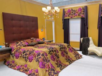 Contemporary Yellow Bedroom