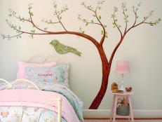 Add Whimsy to a Child's Bedroom With a Cherry Blossom Wall Decal