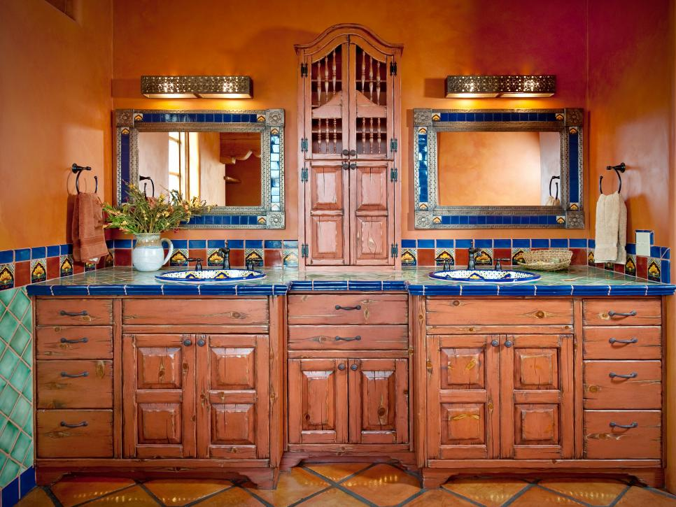 Spanish Style Bathroom Decorating Ideas: 10 Spanish-Inspired Rooms