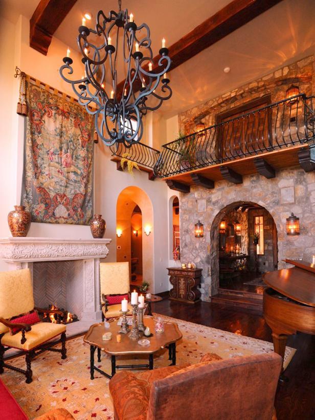 amazing spanish style living room design | Spanish-Style Decorating Ideas | HGTV