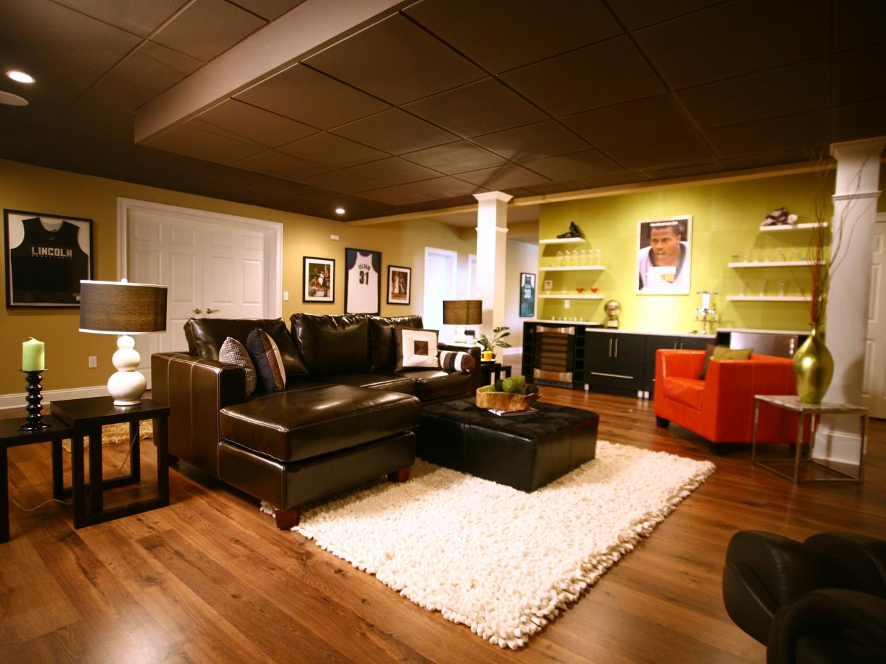 Basement Family Room Design Ideas Basement Finishing Costs  Hgtv