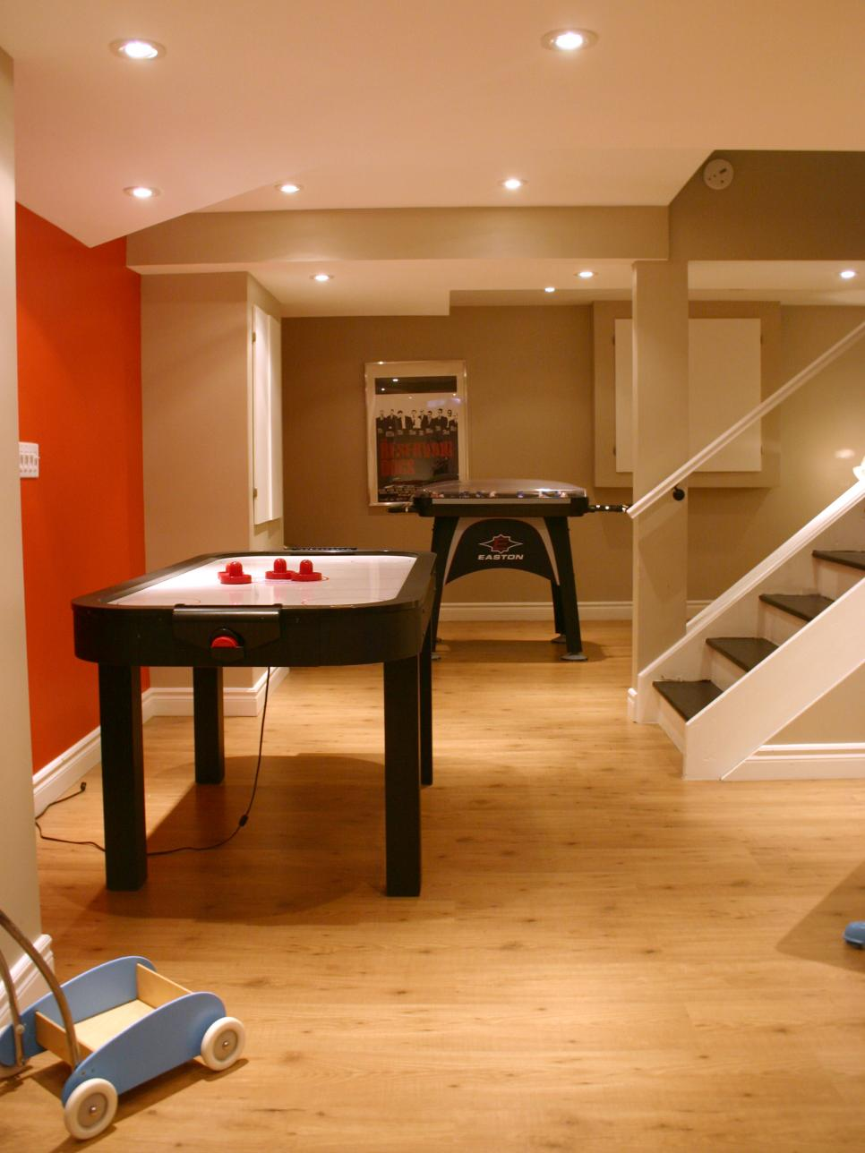 Basement design ideas hgtv Basement game room ideas