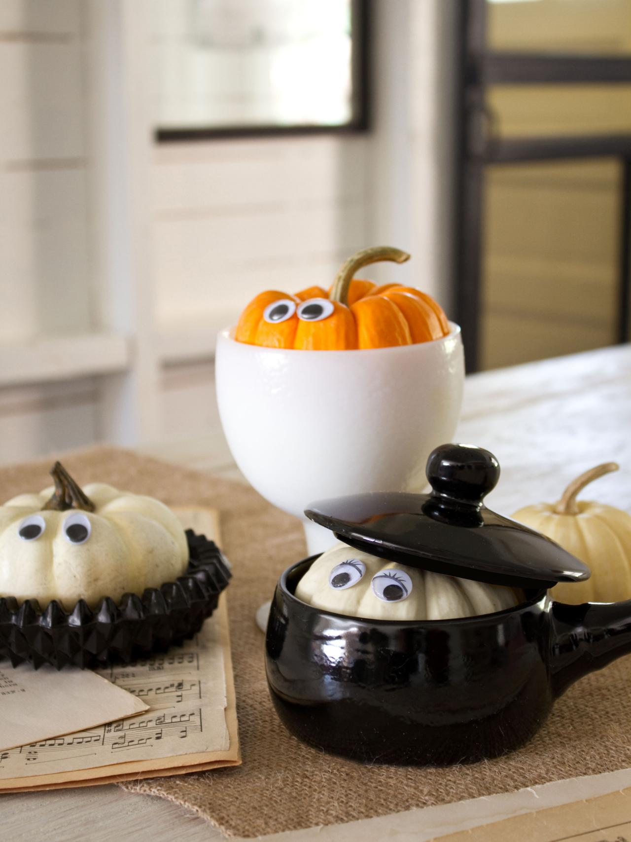 How to make peekaboo pumpkins hgtv for Boo pumpkin ideas
